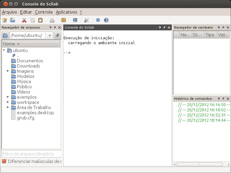 Scilab 5 4 0 no Ubuntu 12 10 - Instalação e configuração