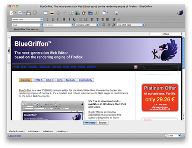 Linux: BlueGriffon o dreamweaver do Linux
