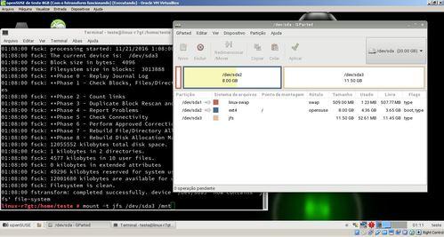 Linux: Convertendo Sistemas de Arquivos