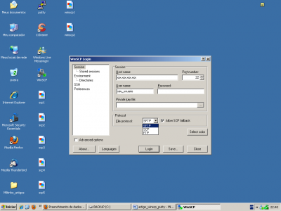 Linux: Acessando servidor Linux remotamente utilizando WinSCP e Putty no Windows.
