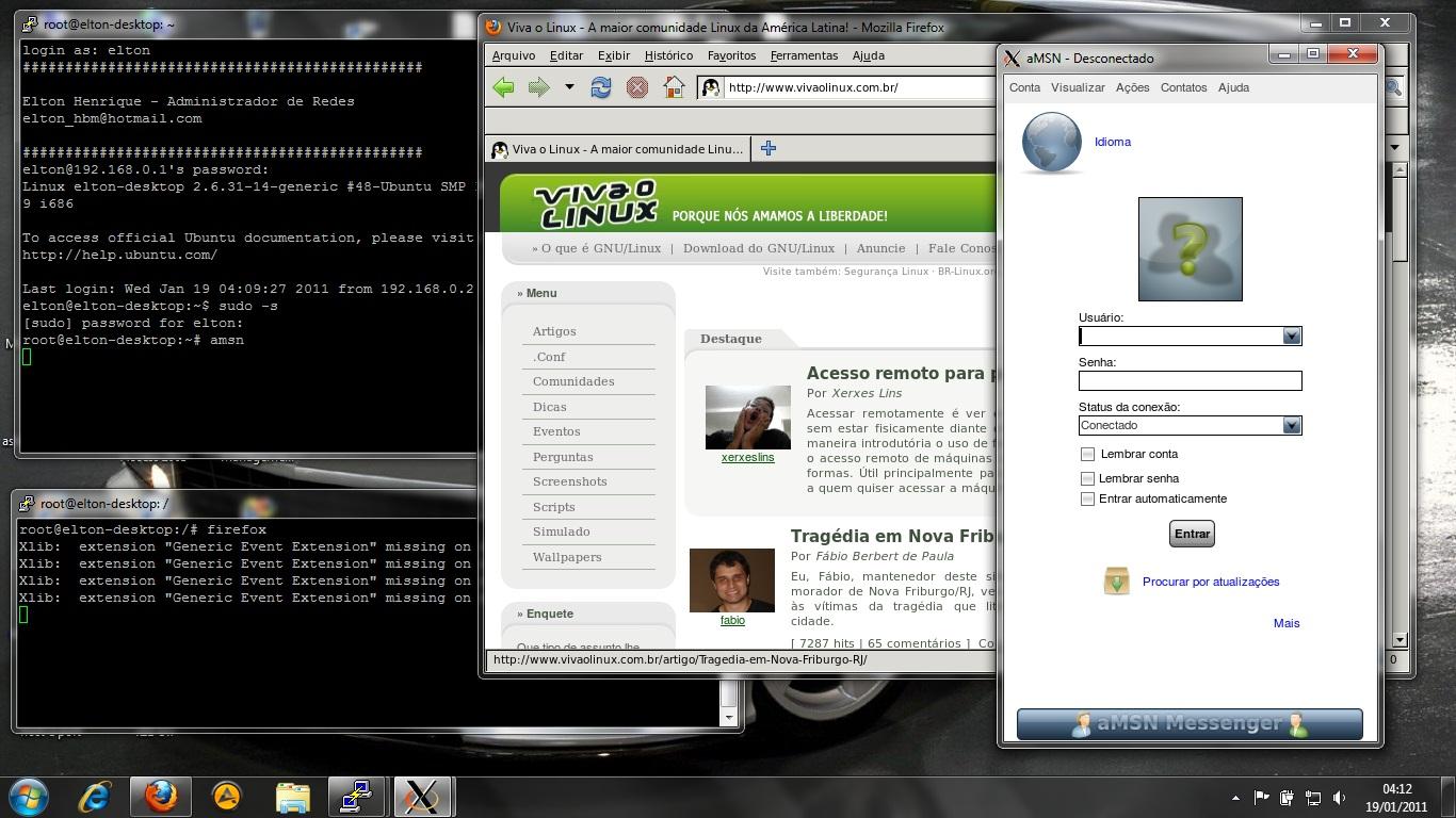 Executando aplicativos de interface gráfica via ssh com clientes