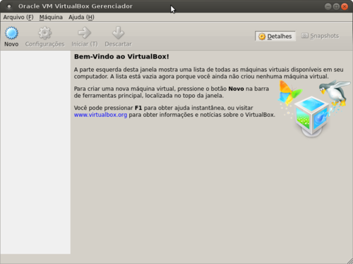 Linux: VirtualBox no Ubuntu 12.04