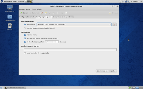 Linux: Grub Customizer no Fedora 20