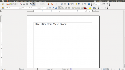 Linux: LibreOffice Com Menu Global