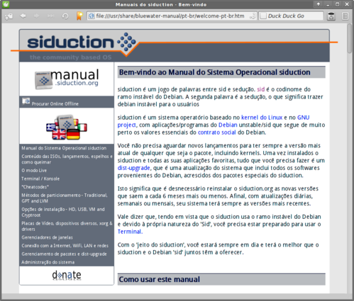 Linux: Debian Squeeze + siduction (XFCE e LXDE)