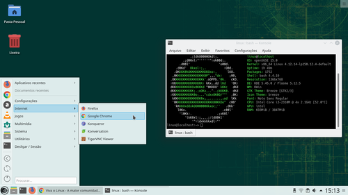 Linux: Instalando Google Chrome no openSUSE Leap 15