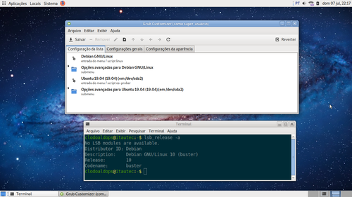 Linux: Instalando Grub Customizer no Debian 10 Buster