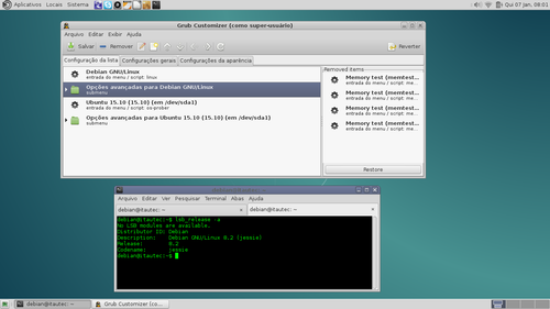 Linux: Instalando Grub-Customizer no Debian 8