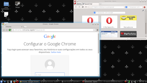 Linux: Opera e Google Chrome no Slackware