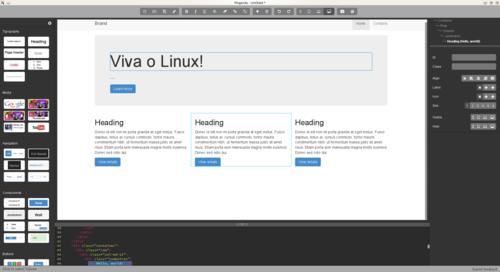 Linux: Pingendo - Crie um layout para o teu site em 5 minutos!