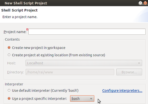 Linux: Shell Script no Eclipse - It is possible!