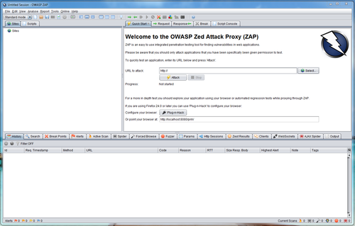 Linux: OWASP Zed Attack Proxy Project