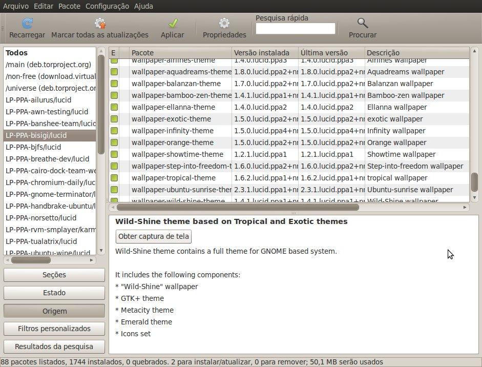 Adicionando temas no Ubuntu Lucid Lynx [Dica]